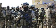 Совместные учения с миротворческим контингентом ОДКБ, архивное фото