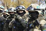 Совместные учения с миротворческим контингентом г