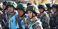 Совместные учения с миротворческим контингентом государств-участников ОДКБ, архивное фото