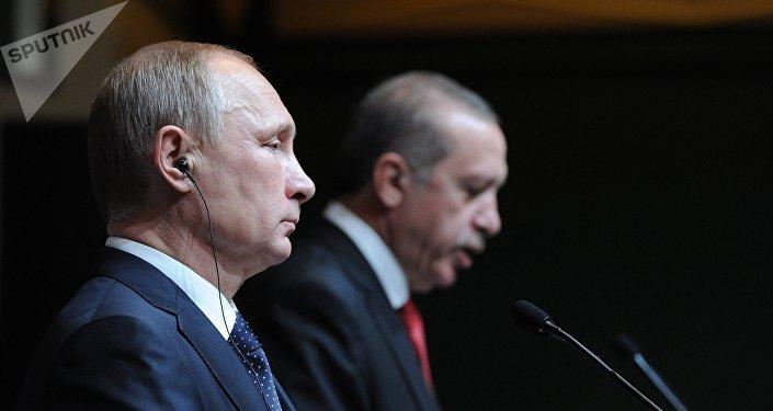 Владимир Путин мен Реджеп Тайип Эрдоган