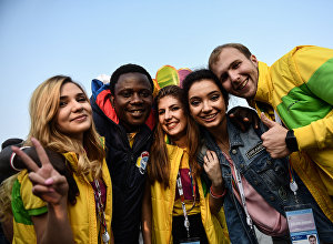 Участники Всемирного фестиваля молодежи и студентов в Сочи