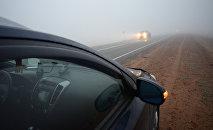 Туман на дороге, архивное фото