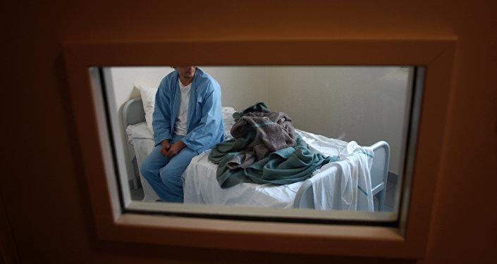 Пациент психиатрической клиники, архивное фото