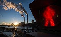 Дым промышленных предприятий, архивное фото