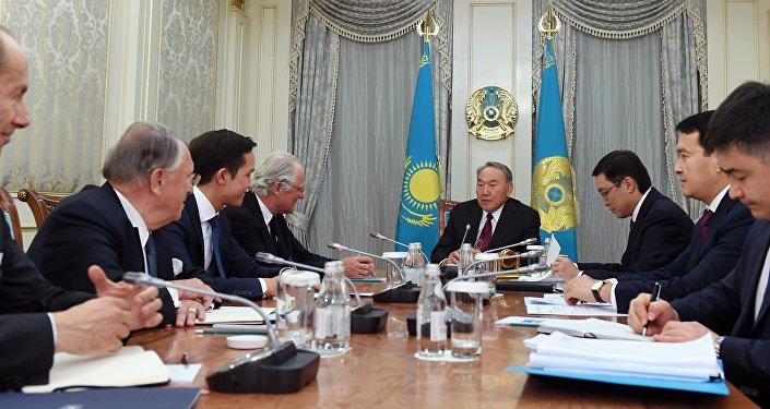 Нурсултан Назарбаев и руководство компании Rothschild & Co