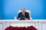 Нурсултан Назарбаев на расширенном заседании политсовета партии Нур Отан