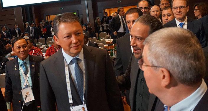 Президент Национального олимпийского комитета Казахстана Тимур Кулибаев на XXII Генеральной Ассамблеи Ассоциации Национальных Олимпийских комитетов