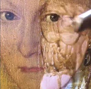 200 жылдық картина су жаңа күйге енді