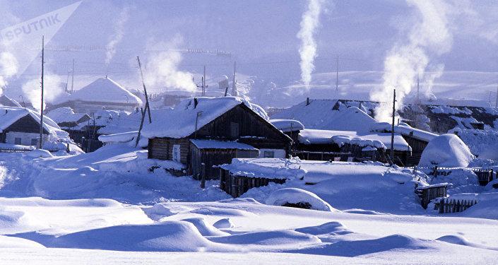 зима деревня