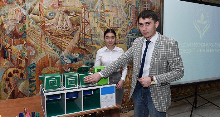 Студенты из Астаны разработали умную мусорку стоимостью 7 миллионов