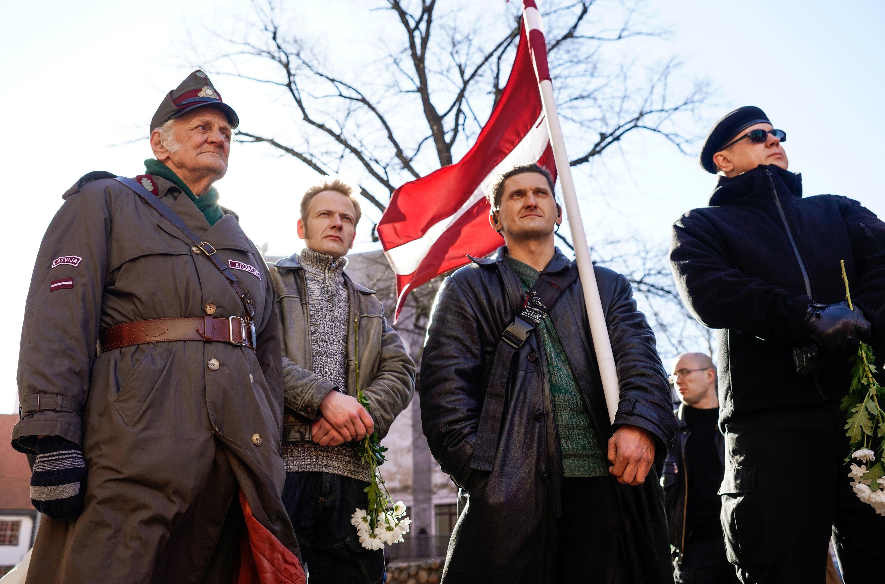 Марш ветеранов СС в Риге