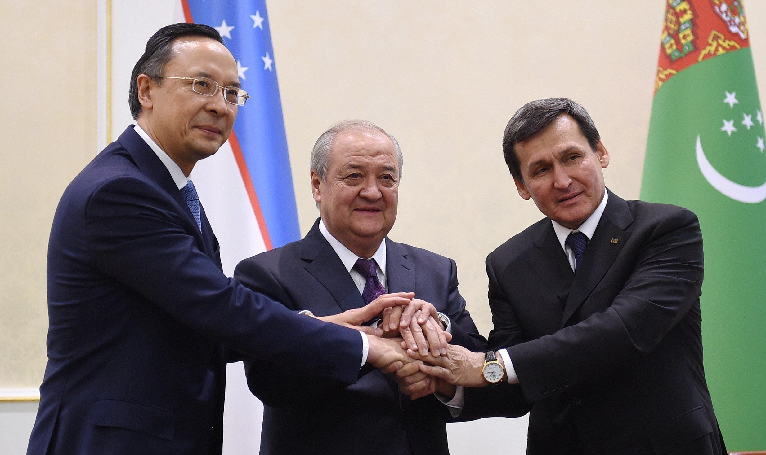 Узбекистан, Казахстан иТуркменистан подписали договор оточке стыка границ