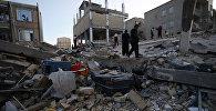 Последствия разрушительного землетрясения в Иране
