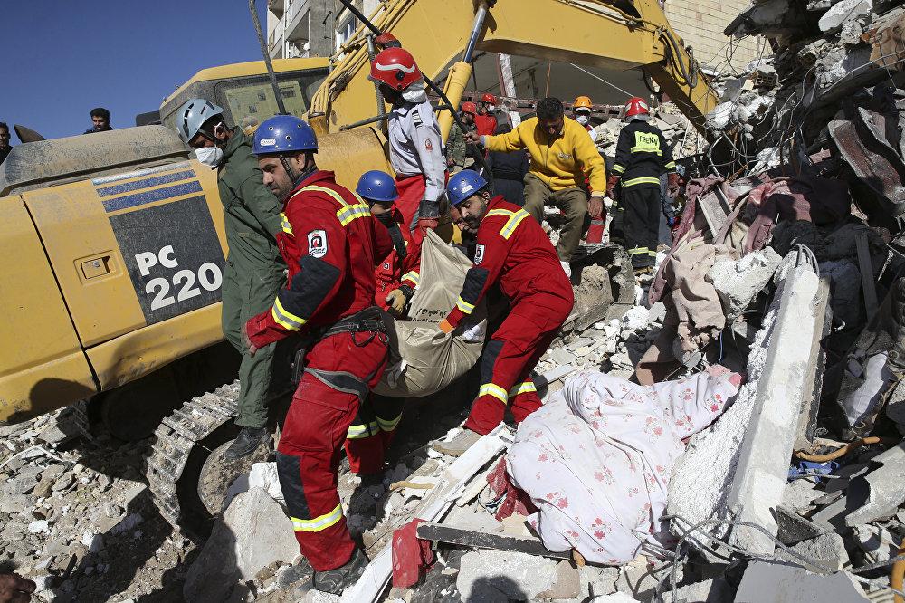Последствия землетрясения на границе Ирана и Ирака