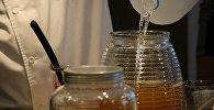 Приготовление напитка из чайного гриба