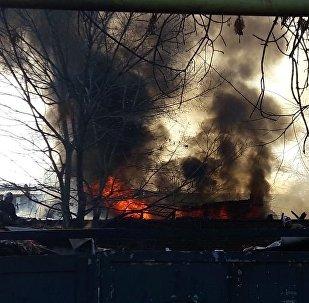 Склад фирмы по поставкам гелиевых шаров загорелся в Алматы