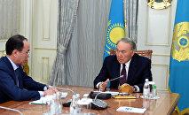 Нұрсұлтан Назарбаевтың Қайрат Қожамжаровпен кездесуі