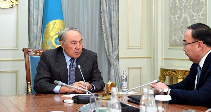 Нұрсұлтан Назарбаев Қазақстанның АҚШ-тағы елшісі Ержан Қазыхановпен кездесті