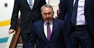 Прилет первого президента Казахстана Нурсултана Назарбаева
