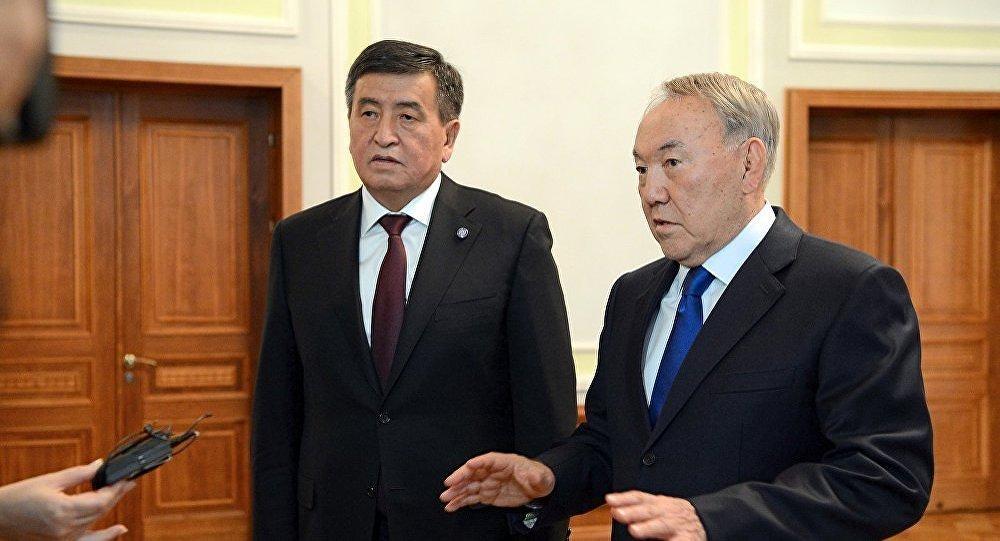 Президент Кыргызстана Сооронбай Жээнбеков сегодня встретился в Минске с президентом Казахстана Нурсултаном Назарбаевым