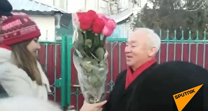 Как Сейтказы Матаева встретили на свободе