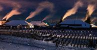 Деревня зимой, архивное фото