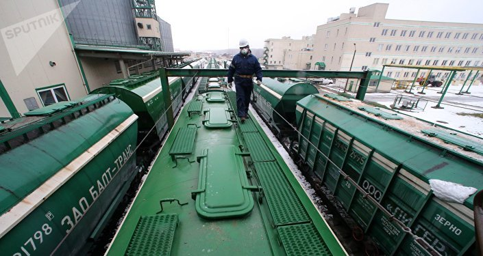 Погрузка зерновозов, архивное фото