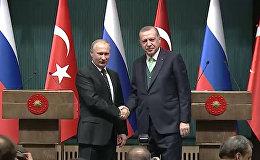 Эрдоган заговорил по-русски после встречи с Путиным
