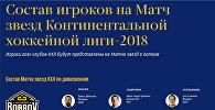 Состав игроков на Матч звезд КХЛ в Астане
