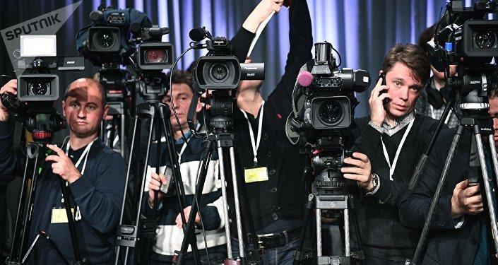 Видеооператоры, архивное фото