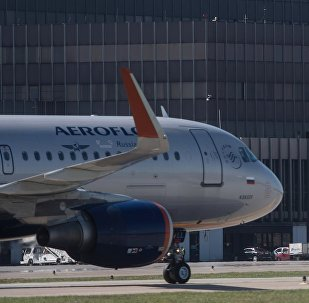 Презентация самолета Bombardier CS300 в аэропорту Шереметьево