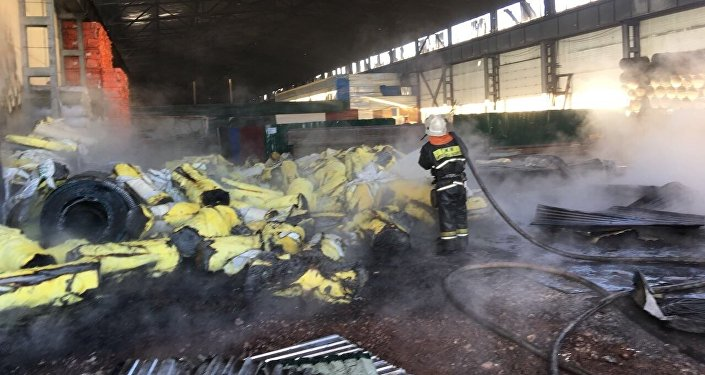 Пожар нарынке «BIG Шанхай» вАстане потушен— КЧС МВД