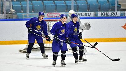 Игроки молодежной сборной Казахстана по хоккею, архивное фото