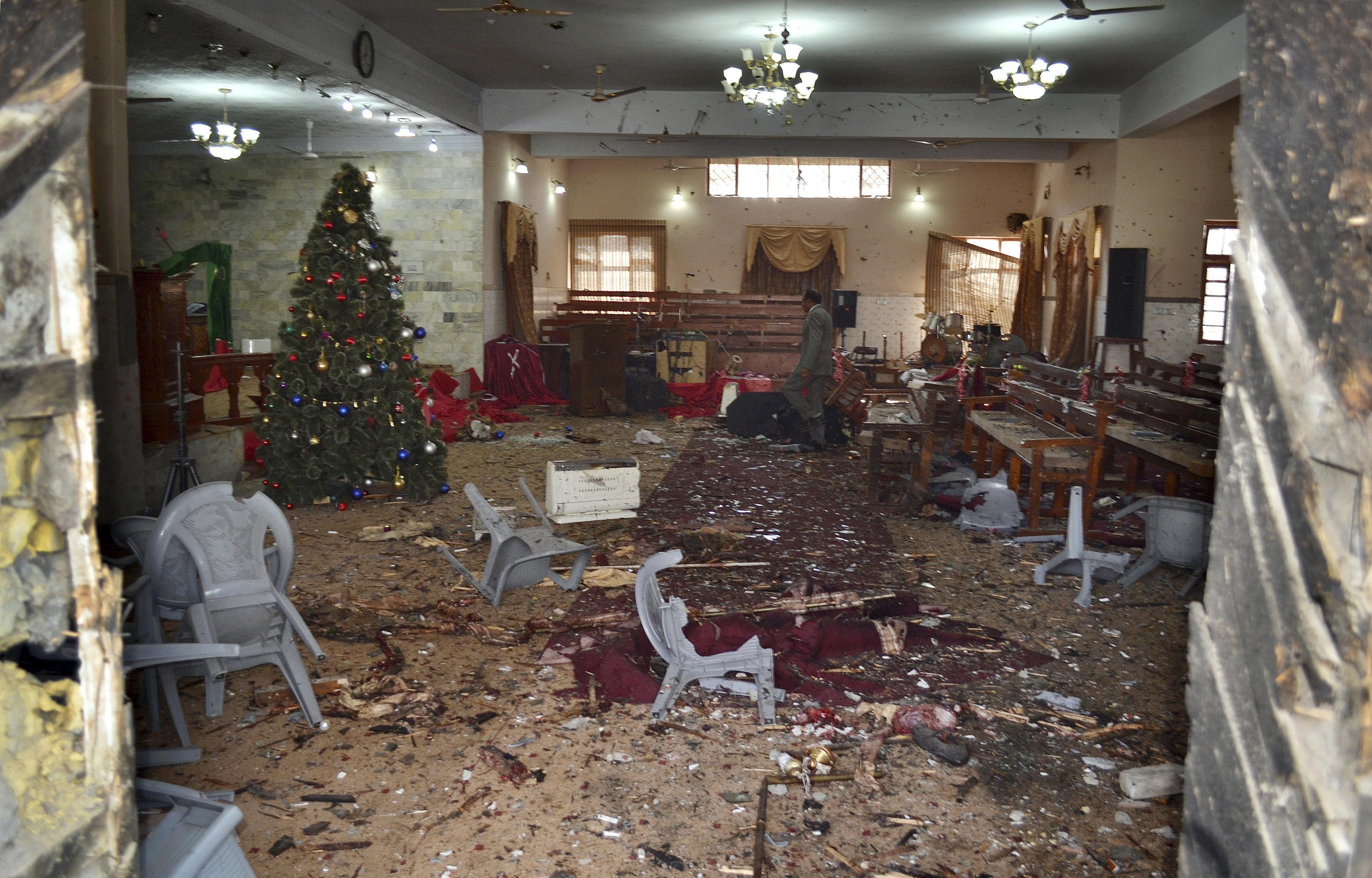 Теракт в церкви в Пакистане