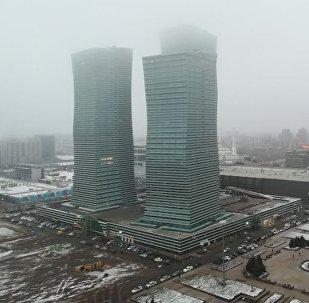 Смог и туман в Астане