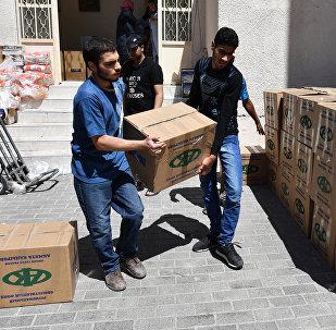 Доставка гуманитарной помощи в Дамаск, архивное фото
