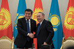 Нұрсұлтан Назарбаев пен Сооронбай Жээнбеков