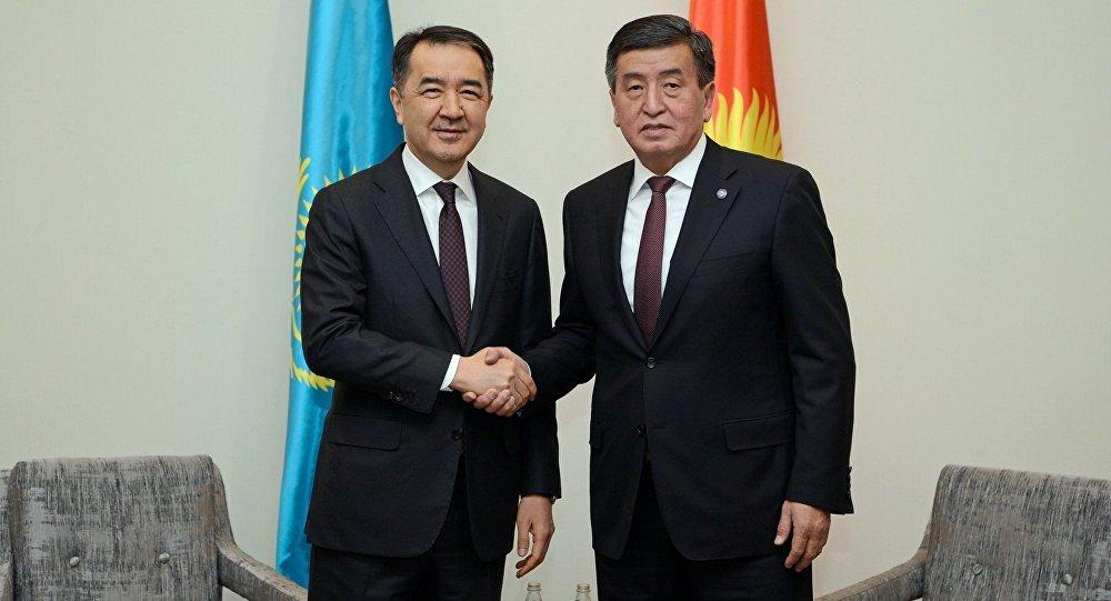 Премьер Казахстана ипрезидент Кыргызстана обсудили вопросы торгово-экономического сотрудничества