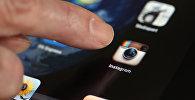 Значок Instagram на экране телефона