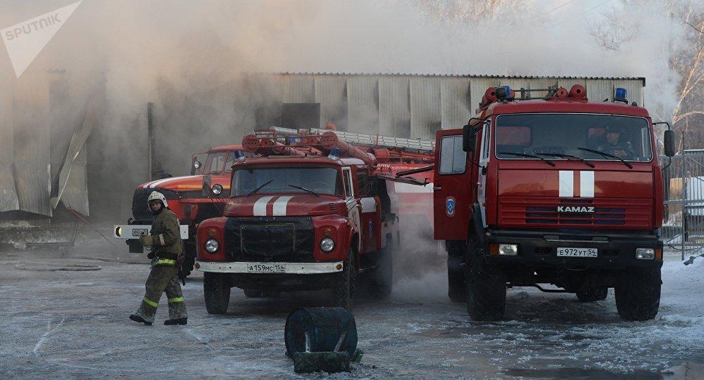 Названа причина пожара в обувном цехе под Новосибирском