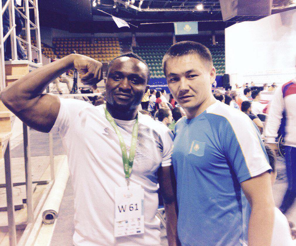 Инспектор отдела ЦОН Талдыкоргана, паралимпиец и чемпион РК по тяжелой атлетике Арлан Атейбеков