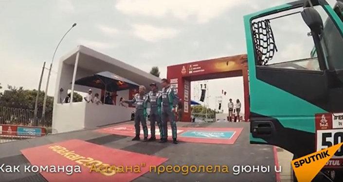 Команда Астана преодолела дюны