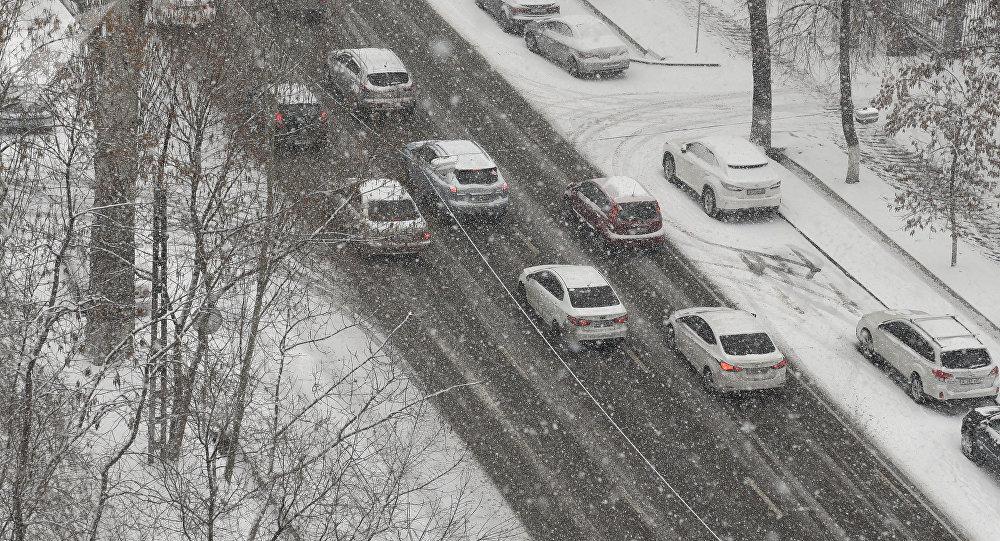 Снегопад в Алматы
