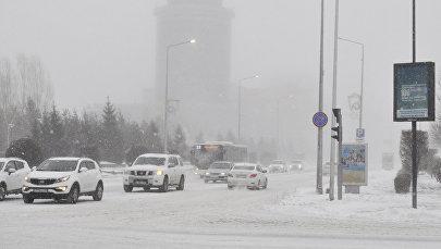 Астанадағы ақтүтек боран