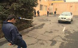 16 жастағы армян спортшысы шашының көмегімен автокөлікті сүйреді