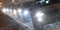 Автомобильные пробки, архивное фото