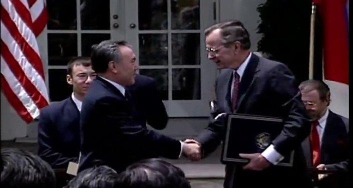 Первый визит Нурсултана Назарбаева в США