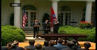 Очередное видео первого визита Назарбаева в США опубликовано в Сети