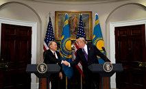 Нурсултан Назарбаев и Дональд Трамп