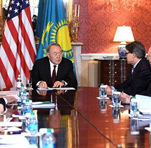 Встреча президента Казахстана с министром энергетики США Риком Перри